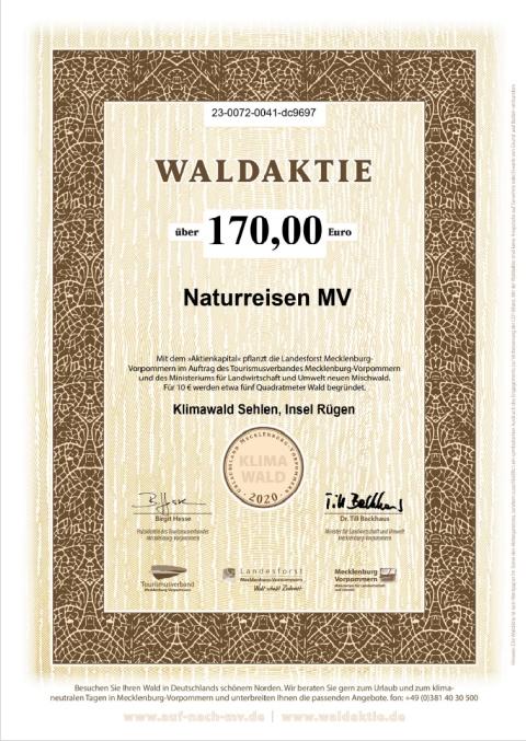 Waldaktien im Namen von Naturreisen MV