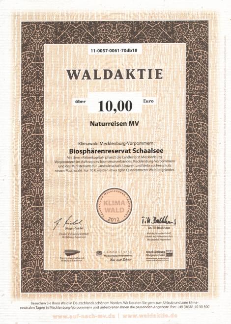 Waldaktie Biosphärenreservat Schaalsee
