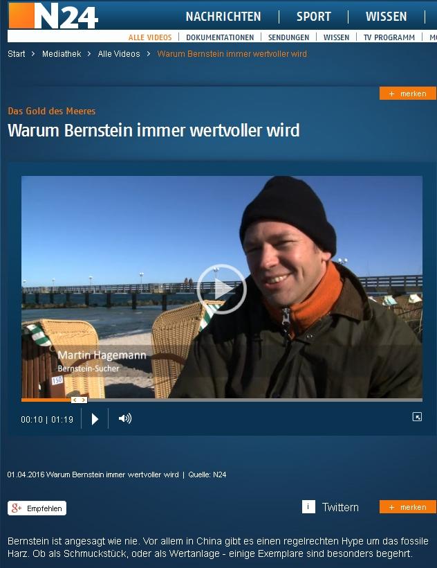 Bernsteinsucher Martin Hagemann
